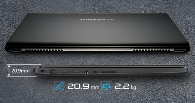 Desain Laptop Games Gigabyte P35X v3