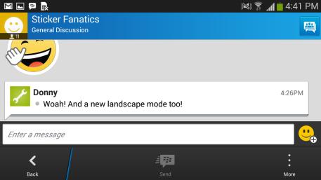 Mode Landscape Di BBM 2.6 Untuk Android Lollipo