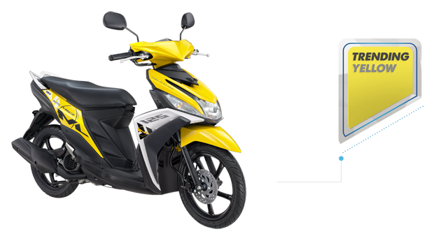 Yamaha Mio M3 125 Blue Core Warna Kuning (Trending Yellow).