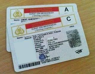 Gambar SIM A dan SIM C