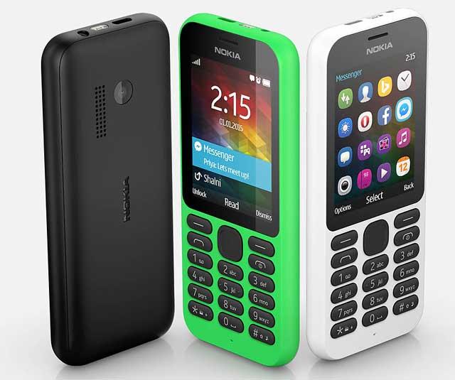 Pilihan Warna Nokia 215 - Hijau - Putih - Hitam