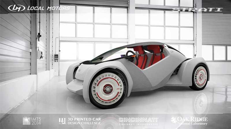 Strati - Mobil Yang Di Cetak Dengan 3D Printed Car