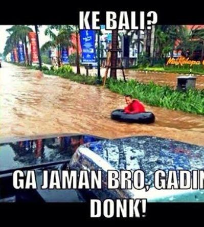 Banjir Di Kelapa Gading, Jakarta Utara Disamakan Dengan Wisata Pantai Di Bali