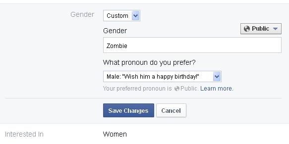 Fitur Gender Di Facebook Bebas