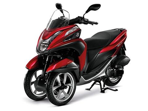 Gambar Yamaha Tricity Warna Merah