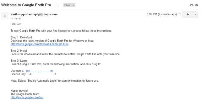 License Key Google Earth Pro Gratis