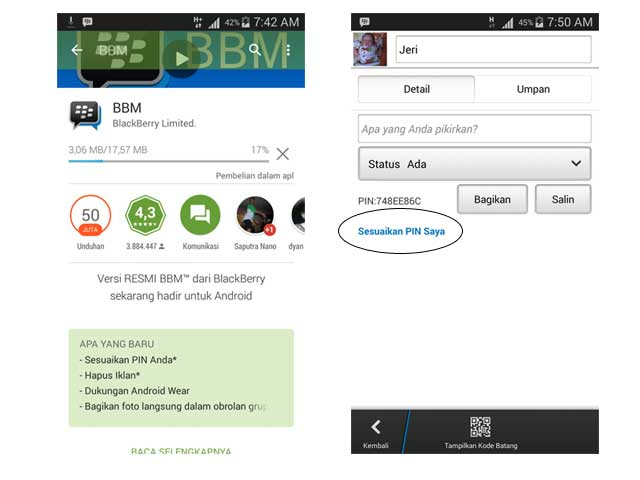 Update BlackBerry Android 2.7