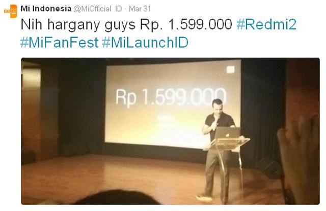 Harga Xiaomi Redmi 2.