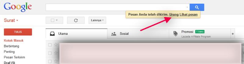 Cara Menggunakan Fitur Undo Send Di Gmail