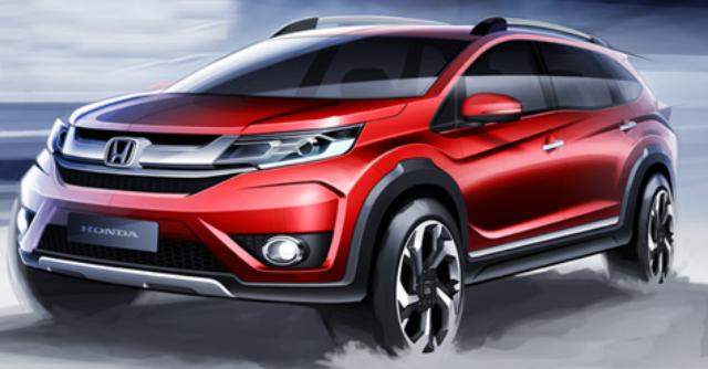 Gambar Honda BR-V Warna Merah (Tampak Depan).
