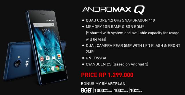 Harga Smartfren Andromax Q 4G LTE