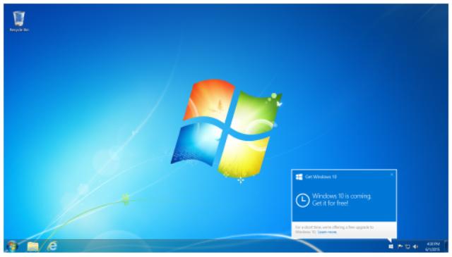 Pemberitahuan Untuk Upgrade Ke Windows 10 Gratis