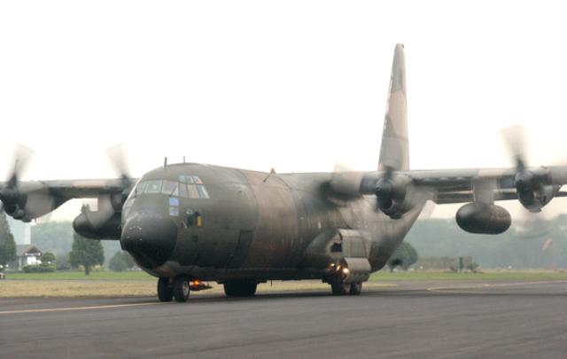 Pesawat Hercules Jatuh Di Medan