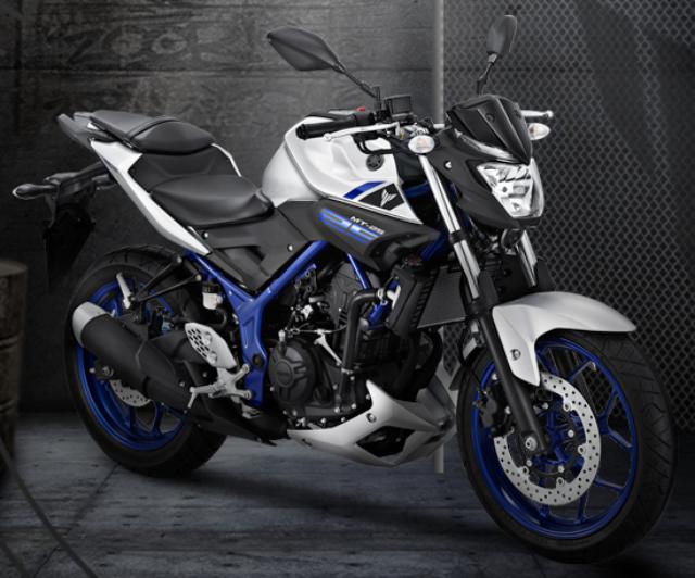 Gambar Yamaha MT-25 Warna Silver-Biru