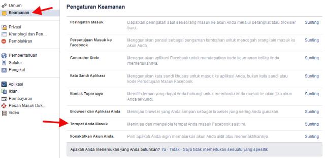 Cara Melihat Aktivitas Login Facebook