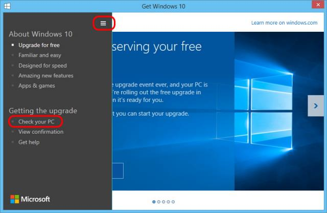 Cek Hardware dan Software Kompatibel Dengan Windows 10.