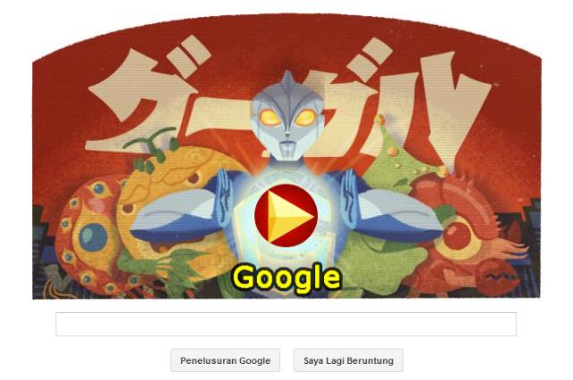 Google Dodle Ultraman Memperingati Kelahiran Eiji Tsuburaya
