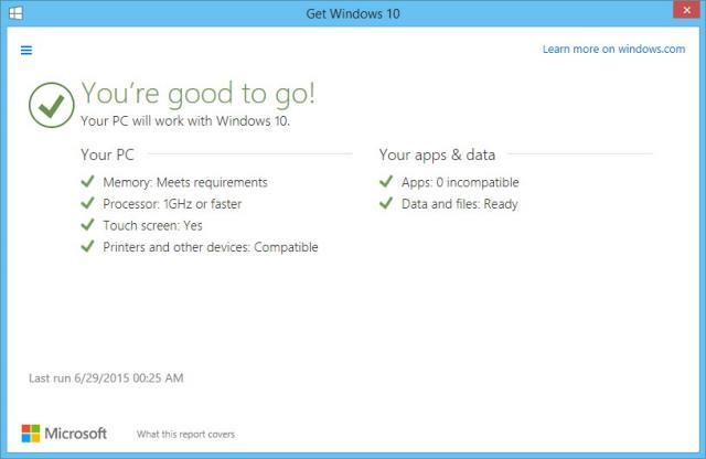 PC Siap Di Upgrade Ke Windows 10 Final
