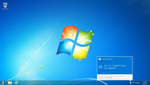 Pemberitahuan Upgrade Ke Windows 10