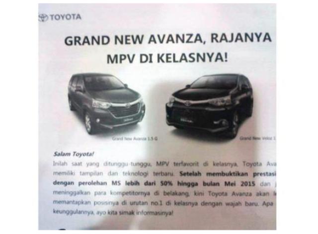 Presentasi Toyota Grand New Avanza dan Grand New Veloz