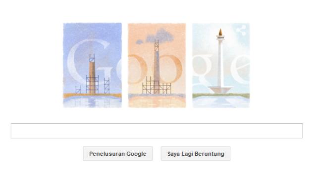 Tugu Monas Google Doodle.