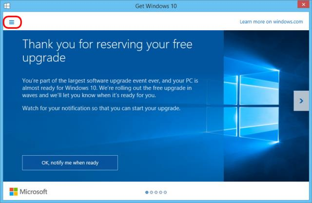 Windows 10 Free Upgrade.