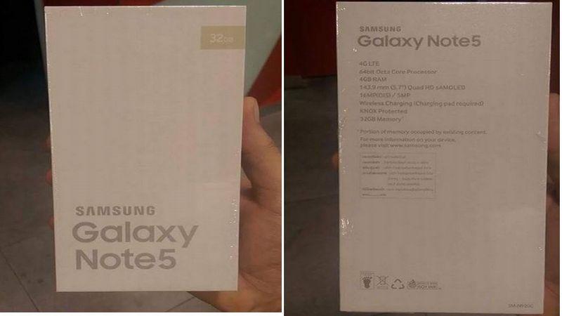 Box Spesifikasi Samsung Galaxy Note 5.