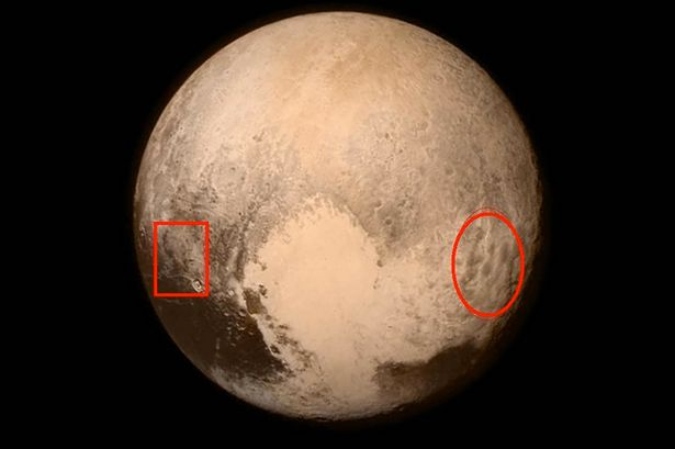 Foto Planet Pluto Dengan Tulisan Muhammad Dan Lafaz Allah.