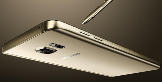 Gambar Samsung Galaxy Note 5 Warna Emas (Gold Platinum)