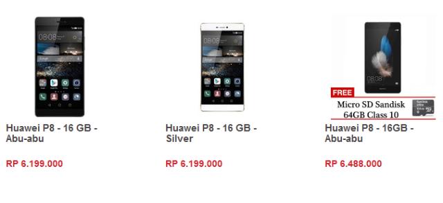 Harga Huawei P8 Di Lazada