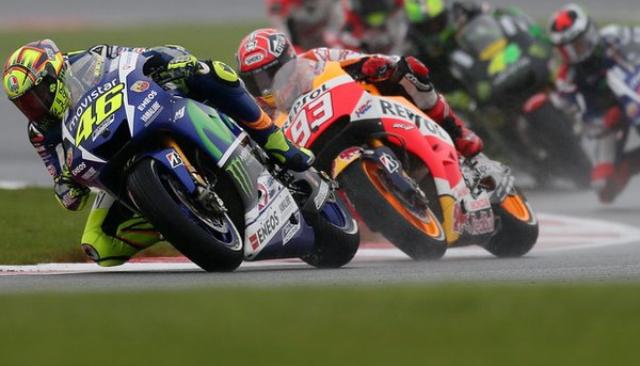 Marquez Terjatuh, Rossi Juara Di MotoGP Inggris 2015