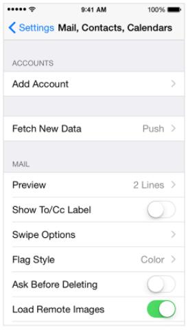 Tambah Akun Kontak - Email di iPhone
