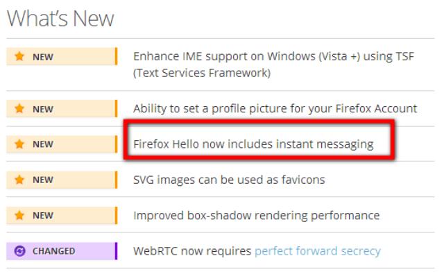 Fitur Chatting Mozilla Firefox Terbaru