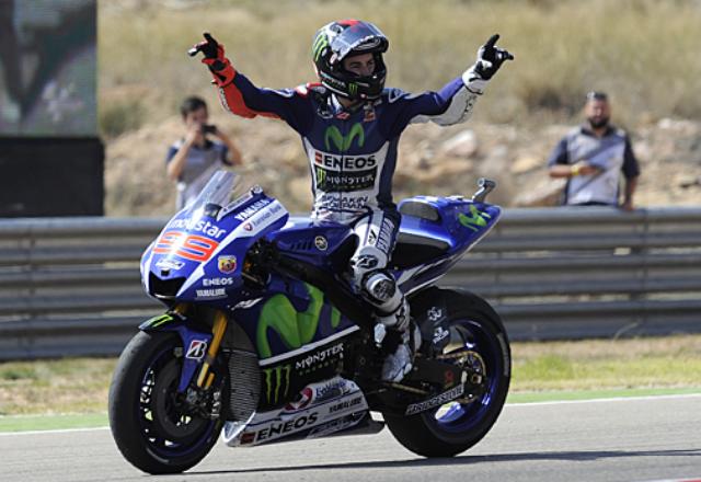 Lorenzo Juara MotoGP Aragon 2015