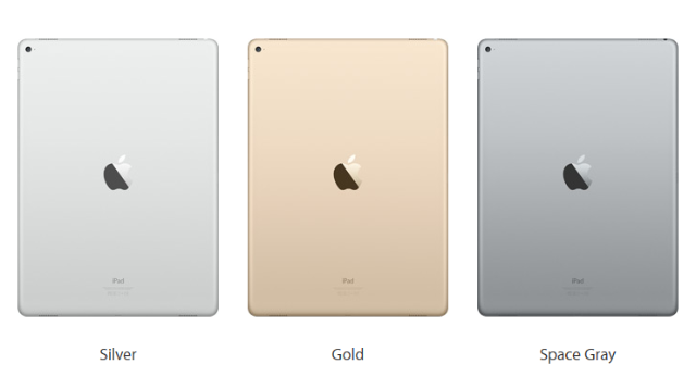 Pilihan Warna iPad Pro - iPad Pencil