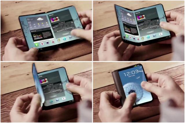 Smartphone Samsung Dengan Layar Lipat