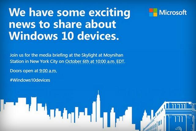 Undangan Peluncuran Lumia 950 dan Surface Pro 4
