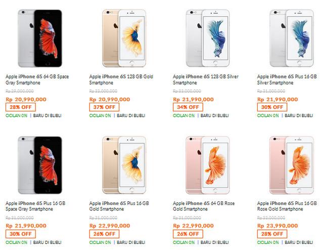 Harga iPhone 6s Plus Di Indonesia
