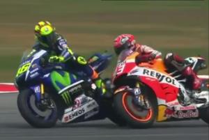 Tendangan Maut Rossi Ke Marquez Di GP Malaysia