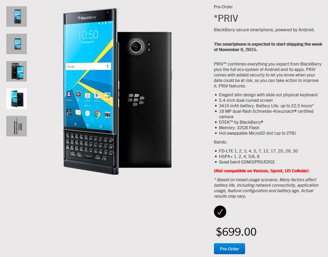 Harga Baru BlackBerry Priv