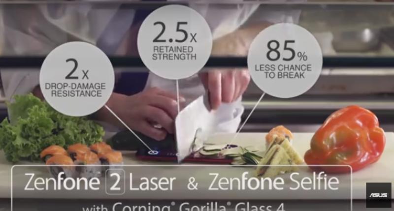 Kekuatan Layar Asus Zenfone 2 Laser dan Zenfone Selfie