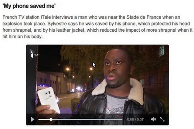 Smartphone Selamatkan Pria Ini Dari Teror Bom Paris