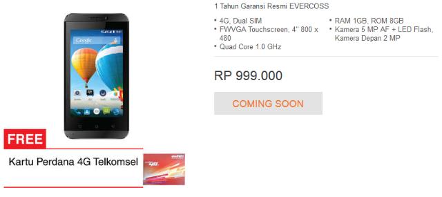 Elavate Y3 Dan Winner T3 Smartphone 4G Murah Dari