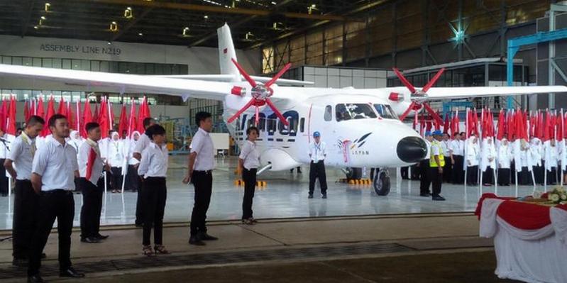 Acara Peluncuran Pesawat N219 Di Bandung