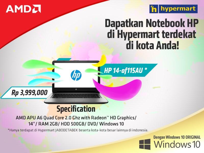 Spesifikasi dan Harga Laptop HP 14-AF115AU