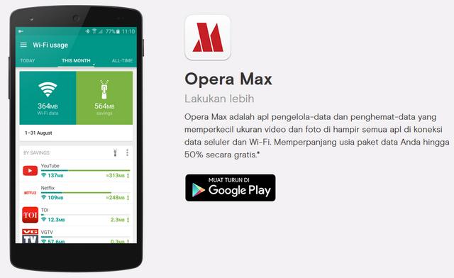 Download Aplikasi Opera MAX untuk Android