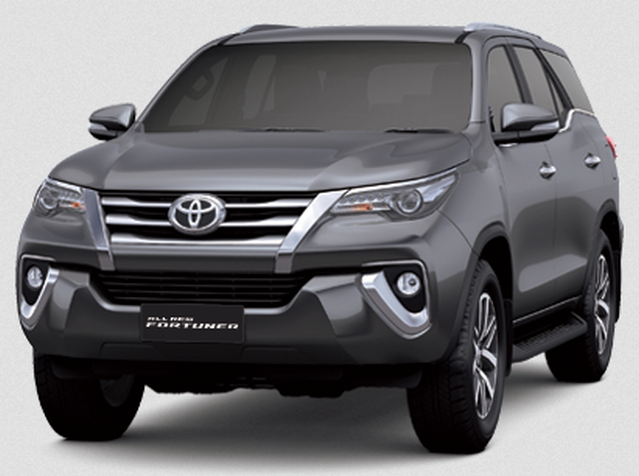 Gambar Toyota Fortuner 2016 di Indonesia Warna Abu-Abu (Dark Gray Mica Metallic)