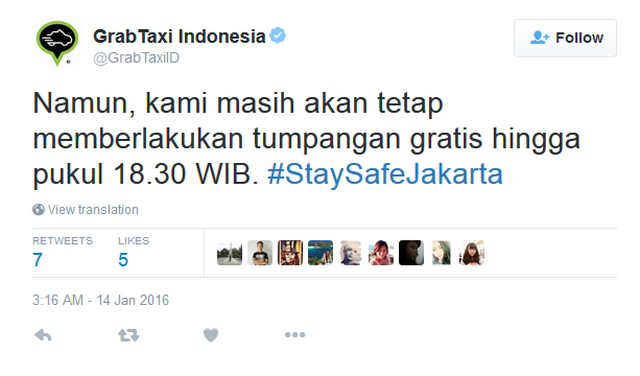 Layanan Taxi Gratis GrabTaxi di Jakarta
