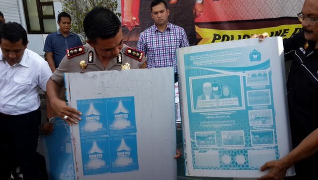 Plat Antena Bergambar Salib Disita Kepolisian