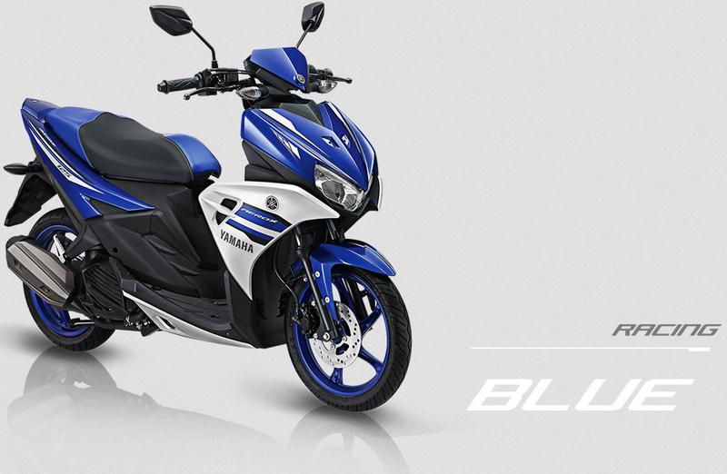 Yamaha Aerox 125 LC warna Biru